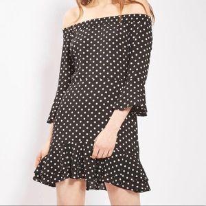 Top shop poka dot dress